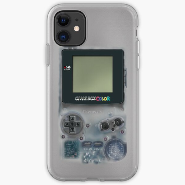 Classic transparent white grey mini video games iPhone Soft Case
