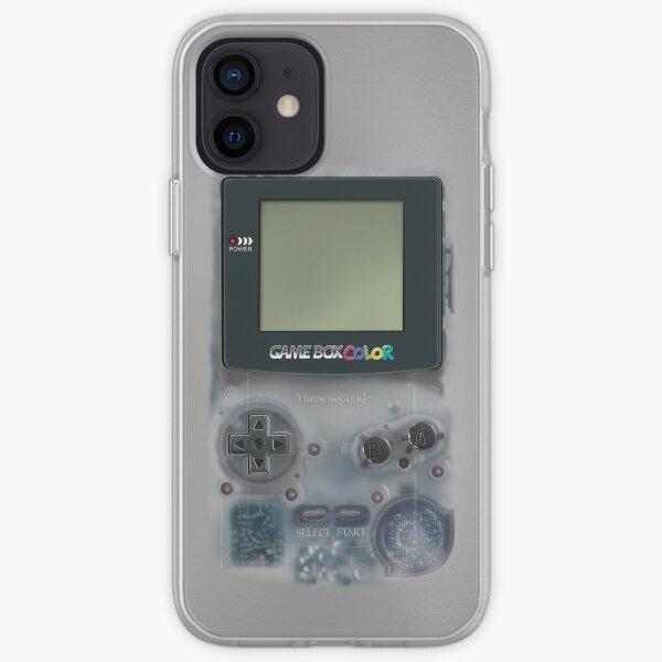 Classic transparent white grey mini video games iPhone Soft Case