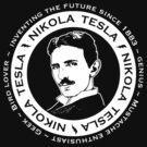 Nikola Tesla - Back of shirt/hoodie option by Brigid Ashwood