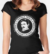 Nikola Tesla - Back of shirt/hoodie option Women's Fitted Scoop T-Shirt