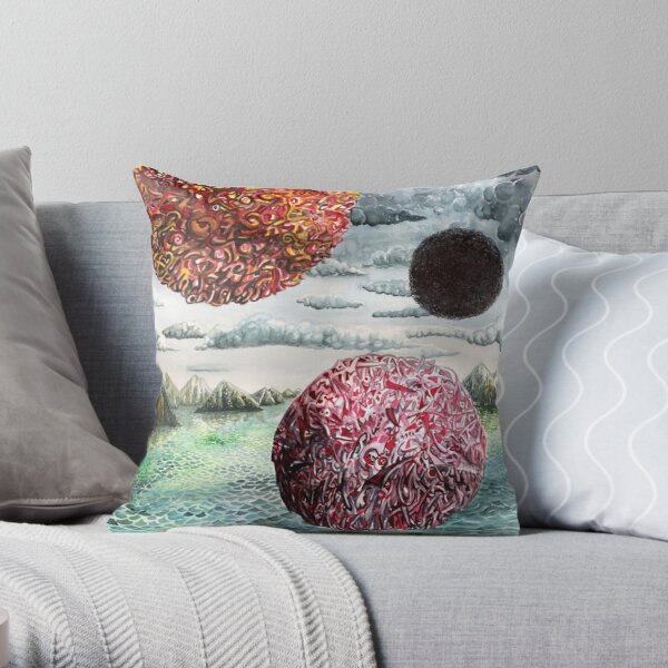 Three Worlds Throw Pillow