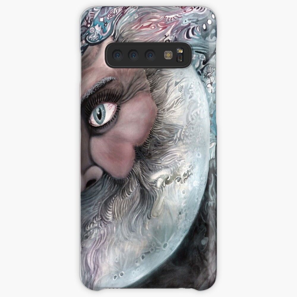 Moon in Man by Davol White Case & Skin for Samsung Galaxy