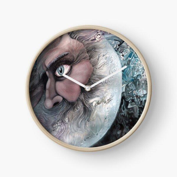 Moon in Man by Davol White Clock