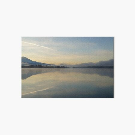 Mountain in morning relection Art Board Print