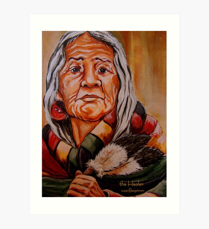 The Healer Detail #4 Art Print