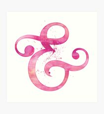 Ampersand Pink Watercolor Art Print