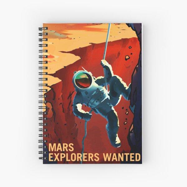 Mars - Explorateurs voulaient astronaute escalade Illustration Cahier à spirale