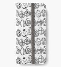 polish easter eggs black and white pisanki iPhone Wallet/Case/Skin