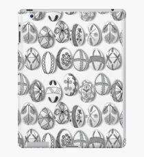 polish easter eggs black and white pisanki iPad Case/Skin
