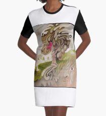 Heart Tree Graphic T-Shirt Dress