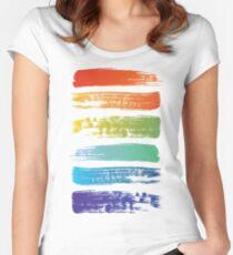 Rainbow brush Women's Fitted Scoop T-Shirt