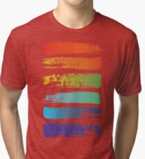 Rainbow brush Tri-blend T-Shirt