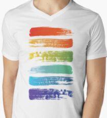 Rainbow brush Men's V-Neck T-Shirt