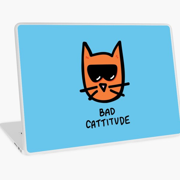 Bad Cattitude Laptop Skin