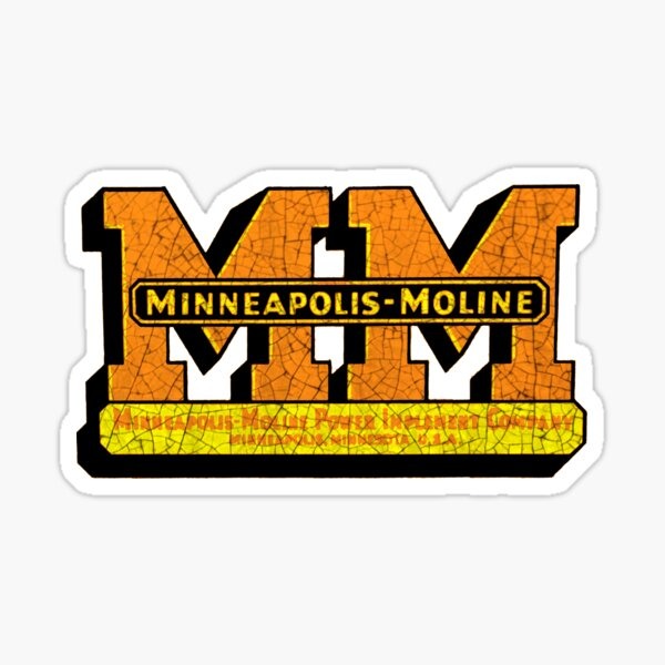 Minneapolis Moline Farm Machinery Sticker