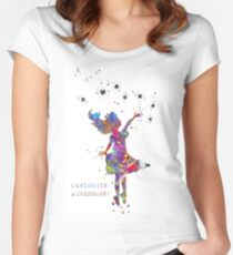 Alice in Wonderland, Alice, watercolor Alice, Alice print, playing card Women's Fitted Scoop T-Shirt