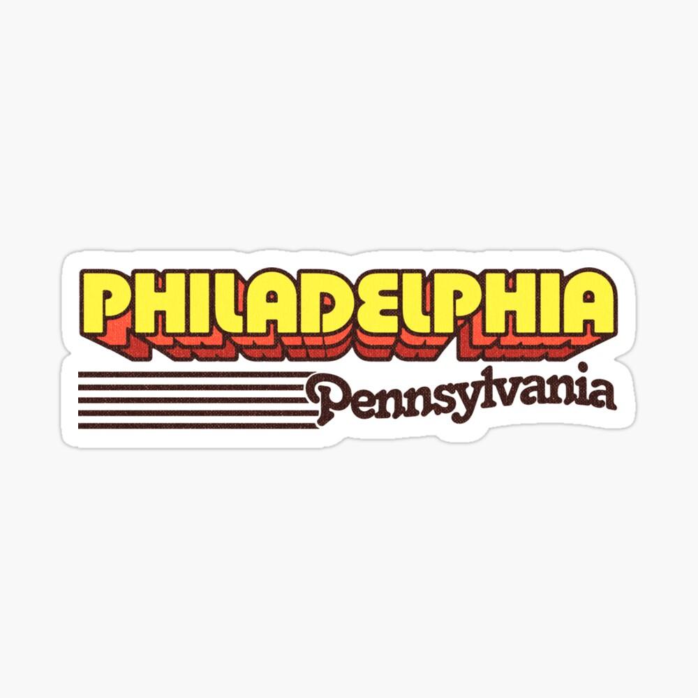 Philadelphia, Pennsylvania | Retro Stripes Sticker