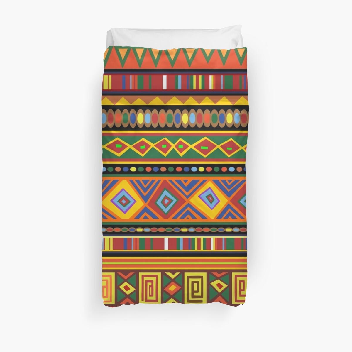 Ethnische bunte Muster Afrika Kunst von BluedarkArt