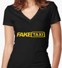 Fake Taxi Women's Fitted V-Neck T-Shirt