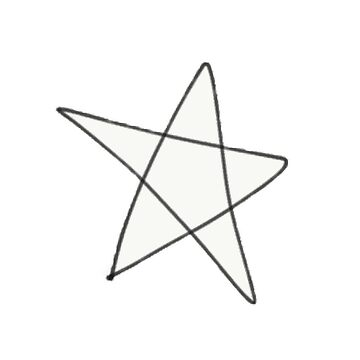 Scribbles // Star by elfiesdesigns