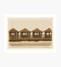 The Beach Huts Art Print