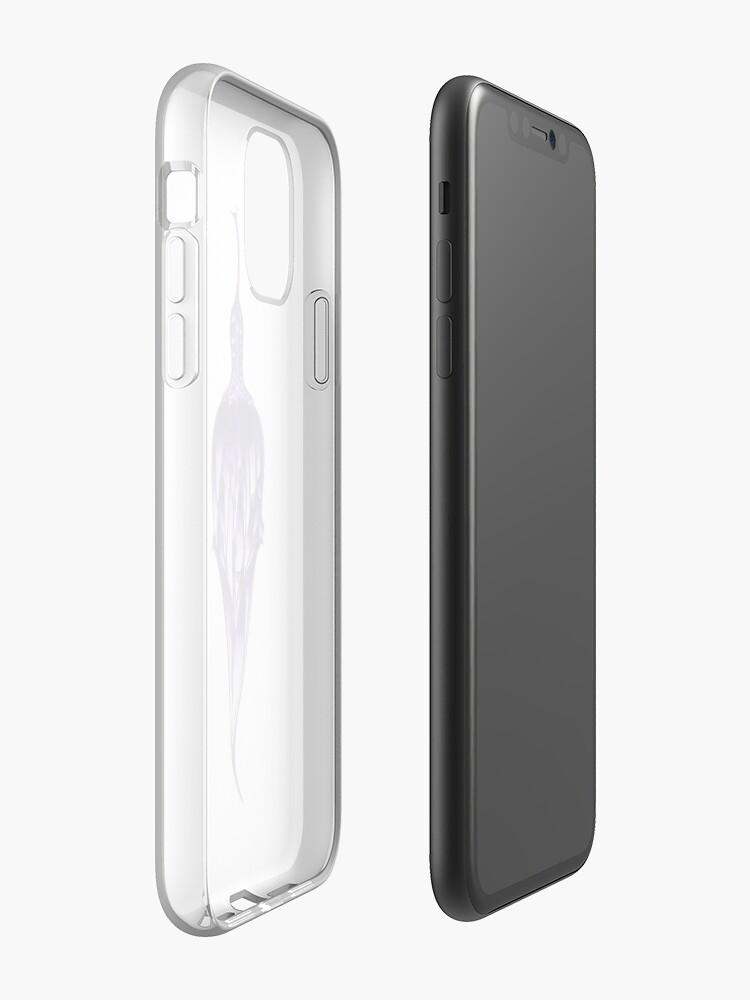 Coque iPhone «Paon Royal Pourpre, Dessin - 300dpi», par BrunoBeach