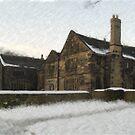 Oakwell Hall Winter Watercolour by Glen Allen