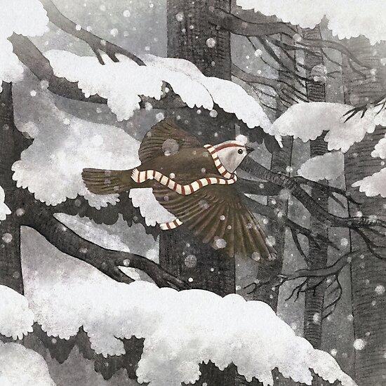 Winter Bird  by Terry  Fan