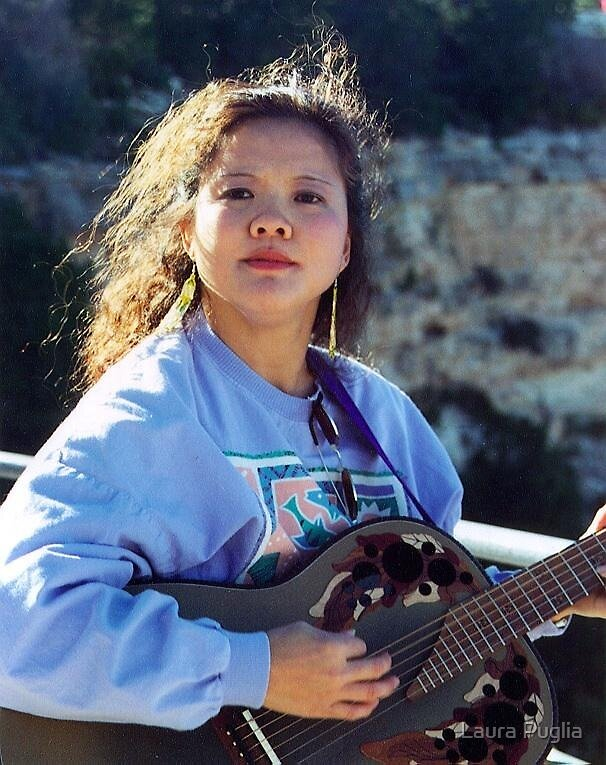 Laurie at The Grand Canyon, 1995 by Laura Puglia