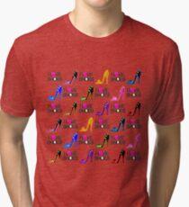 FASHION FORWARD I LOVE SHOES DESIGN Tri-blend T-Shirt