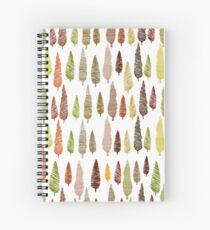 Seamless hand drawn vector pattern with different spruces Spiral Notebook