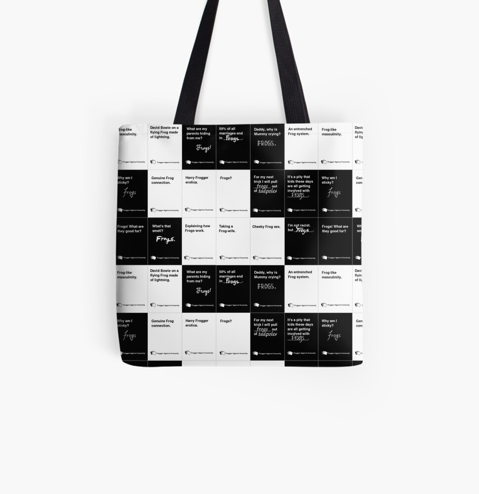 Frogs Against Humanity Cards All Over Print Tote Bag