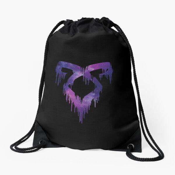 Shadowhunters rune - Angelic power rune dripping (red galaxy) - gift idea Drawstring Bag