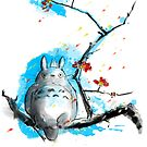 sumi-e totoro by frederic levy-hadida