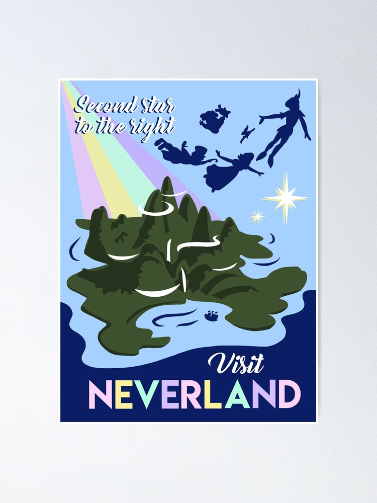 Alternate view of Visit Neverland Poster