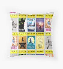 Broadway Playbills 26 Throw Pillow