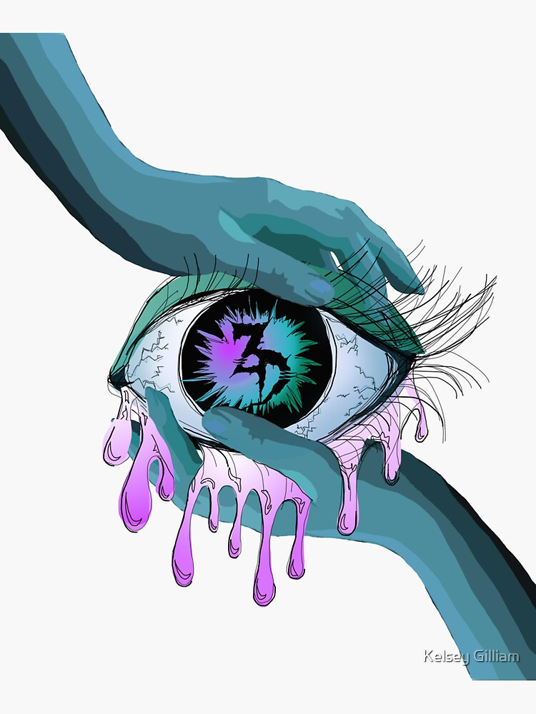 Zeds Dead EDM eye Art by dumblewhcre