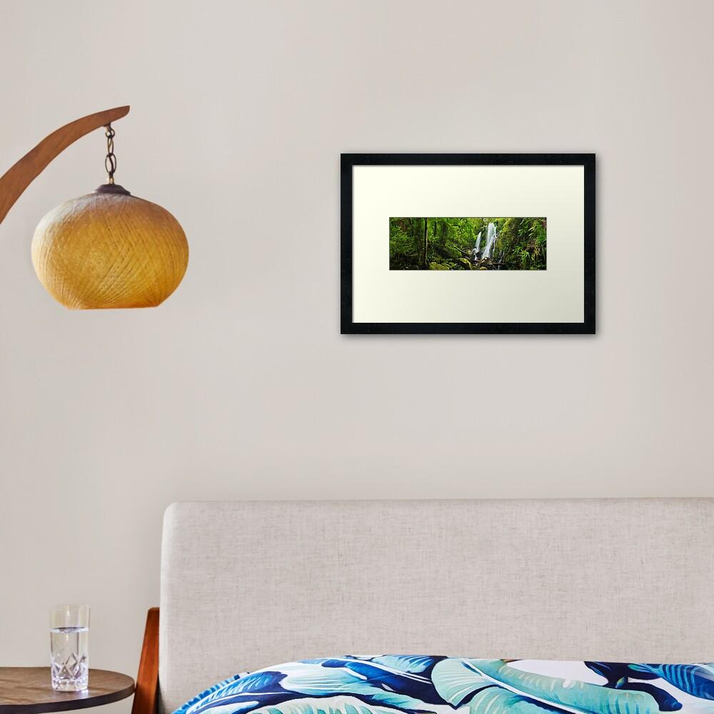 Chalahn Falls, Lamington National Park, Queesland, Australia Framed Art Print