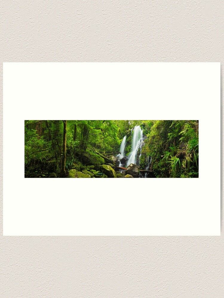 Alternate view of Chalahn Falls, Lamington National Park, Queesland, Australia Art Print