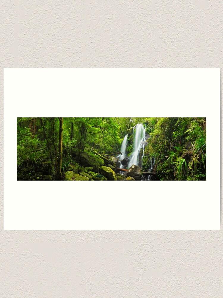 Alternate view of Chalahn Falls, Lamington National Park, Queesland, Australia Art Print