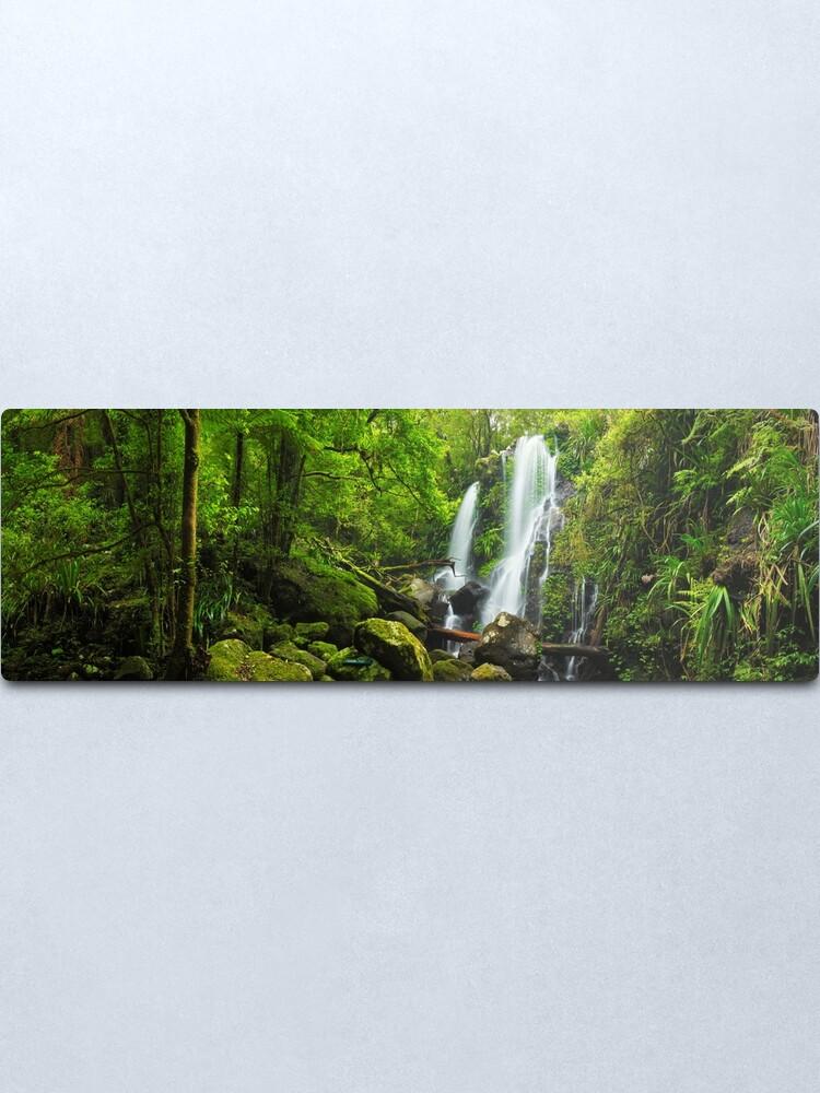 Alternate view of Chalahn Falls, Lamington National Park, Queesland, Australia Metal Print