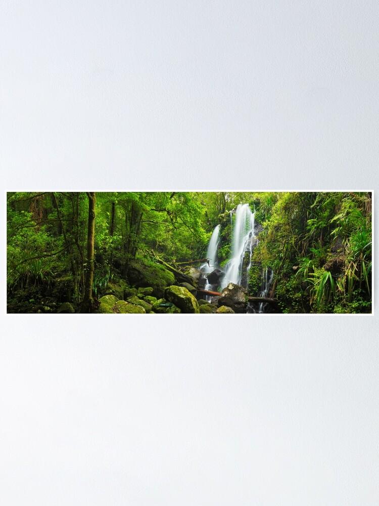 Alternate view of Chalahn Falls, Lamington National Park, Queesland, Australia Poster