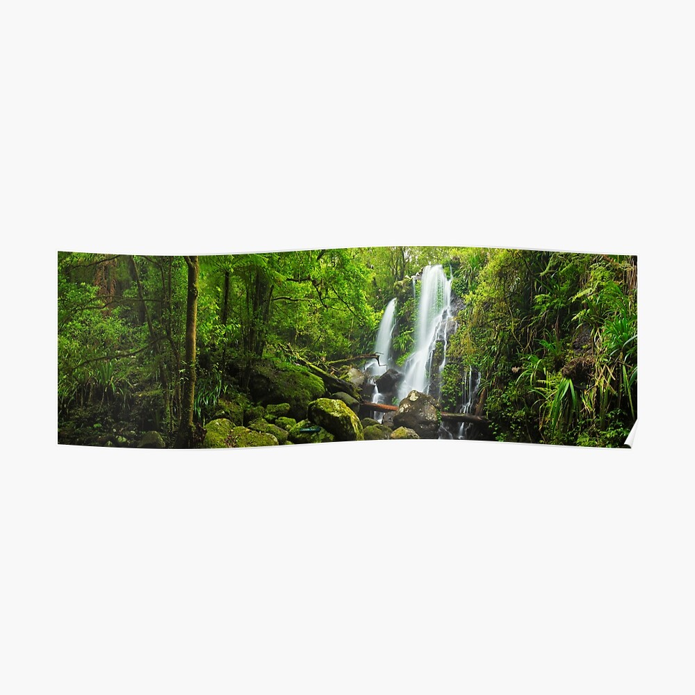 Chalahn Falls, Lamington National Park, Queesland, Australia Poster