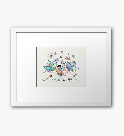 Origami Adventure Framed Print