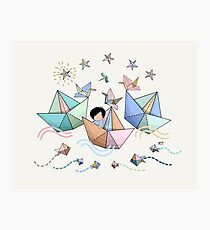 Origami Adventure Photographic Print