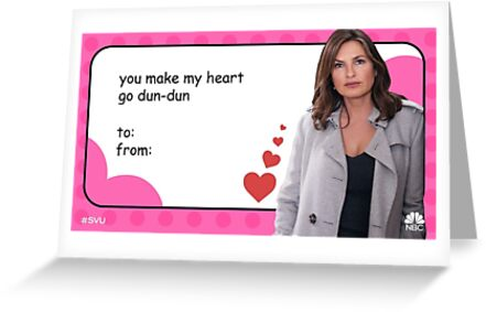 law and order svu valentines card (detective benson) by Alexandra Alpert