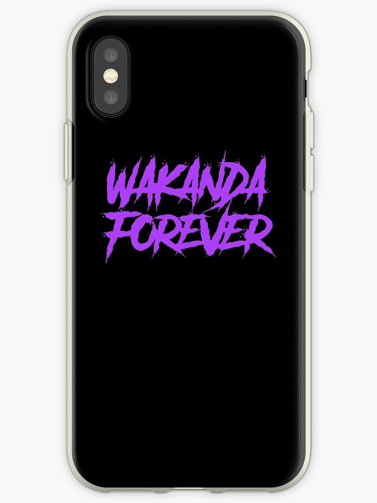 detailed look b24f6 7707c 'Wakanda Forever Purple - Black Panther' iPhone Case by InSERTCOYNE