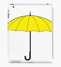 yellow umbrella iPad Case/Skin