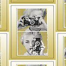 Woman with Argus Camera - Vintage Color Graphic by RetroArtFactory