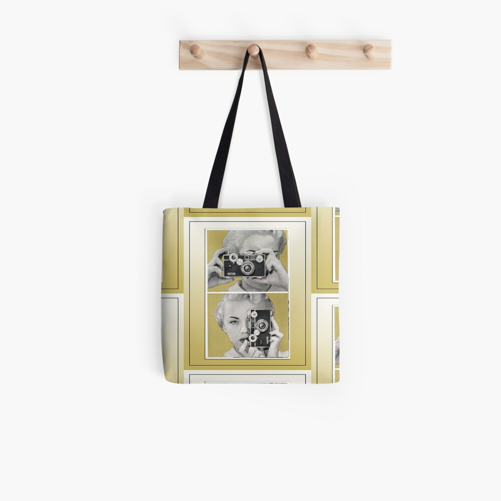 Woman with Argus Camera - Vintage Color Graphic Tote Bag
